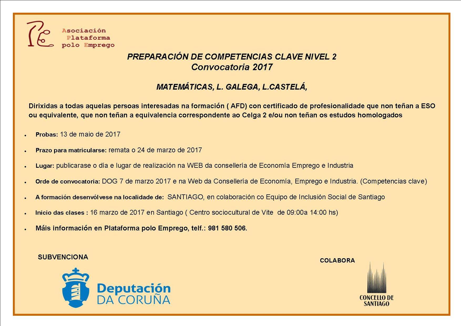 Preparación competencias clave en Santiago