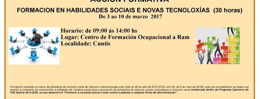 Curso habilidades sociais e novas tecnoloxías Cuntis