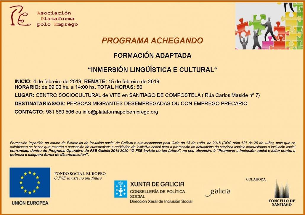 Achegando Inmersión lingülistica e cultural 1