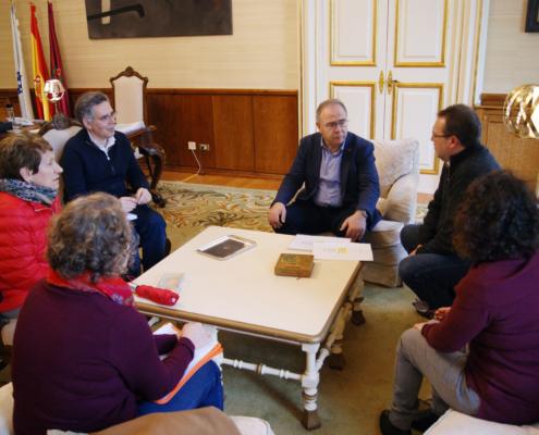 Xuntanza co alcalde de Santiago